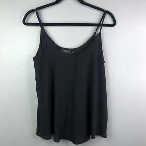 Women's black flowy dress cami Sz M
